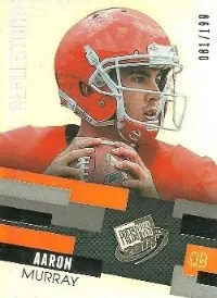 2014 Press Pass Aaron Murray Refractor Base