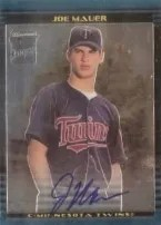 2002 Bowman Chrome Joe Mauer Auto