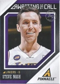13/14 Pinnacle Awaiting the Call Steve Nash Insert