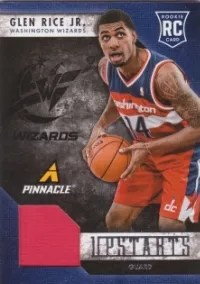 2013/14 Panini Pinnacle Glen Rice Jr Upstarts Jersey Card