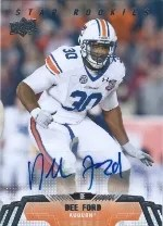 2014 Upper Deck Dee Ford Auto Rare