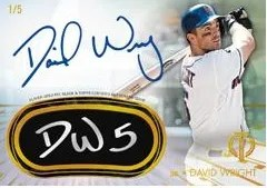 2014 Topps Tribute David Wright Eye Black