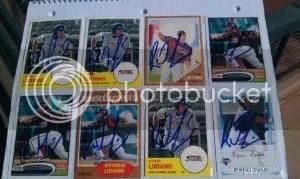 Rymer Liriano Autograph Cards