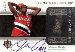 2006/07 Upper Deck Ultimate Collection LaMarcus Aldridge Auto RC Card