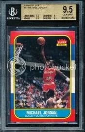 1986-87 Fleer BGS 9.5 Michael Jordan