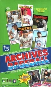 2014 Topps Archives Baseball Box
