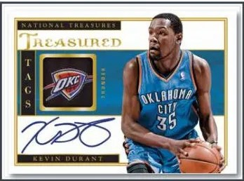 13/14 Panini National Treasures Treasured Tag Kevin Durant Auto