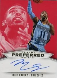 13/14 Panini Preferred Red Mike Conley Auto