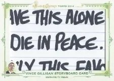 2014 Topps Allen & Ginter Vince Gulligan Storyboard Relic