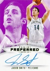 13-14 Panini Preferred Jason Smith Purple Auto