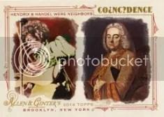2014 Topps Allen & Ginter Coincidence Hendrix & Handel