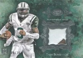 2014 Topps Inception Tajh Boyd Jets Relic Card