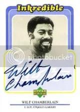 1999-00 UD Retro Wilt Chamberlain Autograph