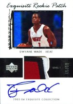 03/04 Dwyane Wade Exquisite Patch RC
