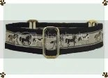 Black Horse Martingale Dog Collar