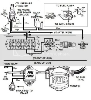 Wiring Fuel pump Relay And Oil Pressure Safety Switch