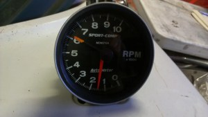 NM Auto Meter 3900 SportComp Monster Tach 5 in  The 1947