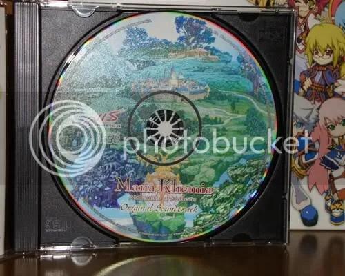 O CD da OST, com flash