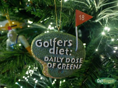 Golfers Diet Ornament