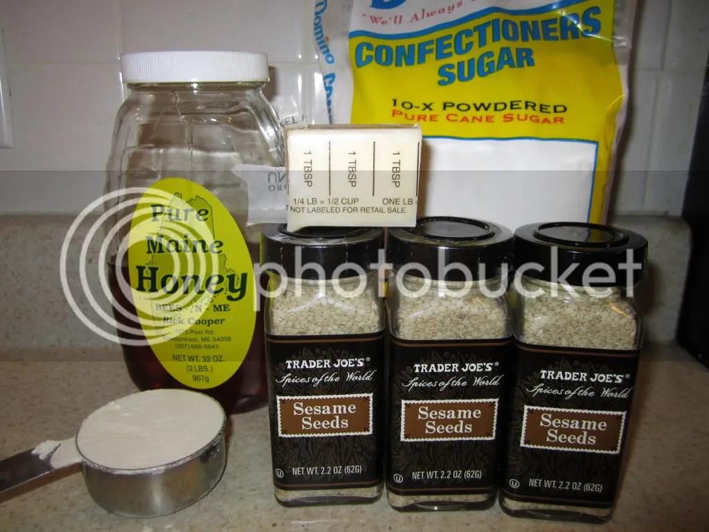 Sesame Honey cookie ingredients