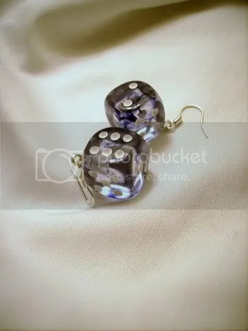 D6 Black Nebula Earrings