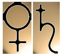 Vénus & Saturne - Glyphes