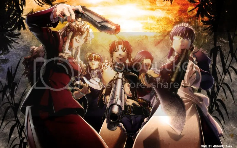 Revy herself, Eda - badass nun, and Balalaika - Russian mafia boss.