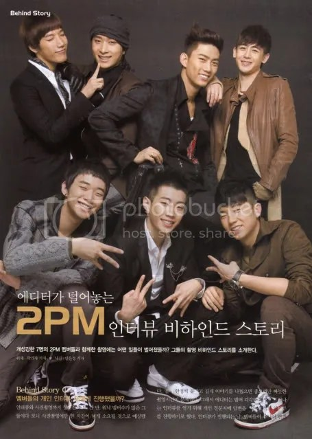 Top from left: Junsu, Chansung, Taekyeon, Nickhun; Bottom from left: Junsu, Jaebom, Wooyoung