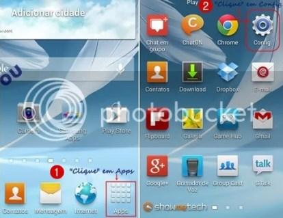 Formatando Galaxy Note II - Passo 01V2