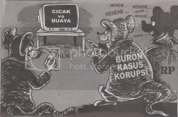 Kumpulan karikatur dukungan masyarakat pada KPK agar tetap terus eksis