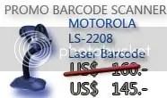 Barcode Scanner Motorola Symbol LS2208