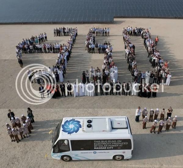 Upacara peresmian proyek kota  Masdar di Uni Emirat   Arab