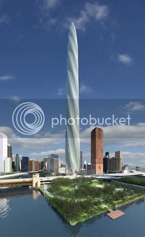gedung terunik di dunia chicago spire