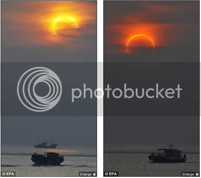 Foto-foto gerhana matahari cincin 15 Januari 2010