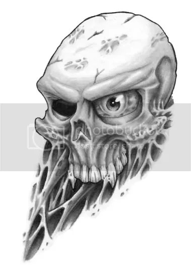 Tribal Tattoo Pictures : Tribal Tattoo Skull Pictures Skul end snake art