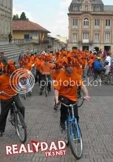 Antanas Mockus en bicicleta