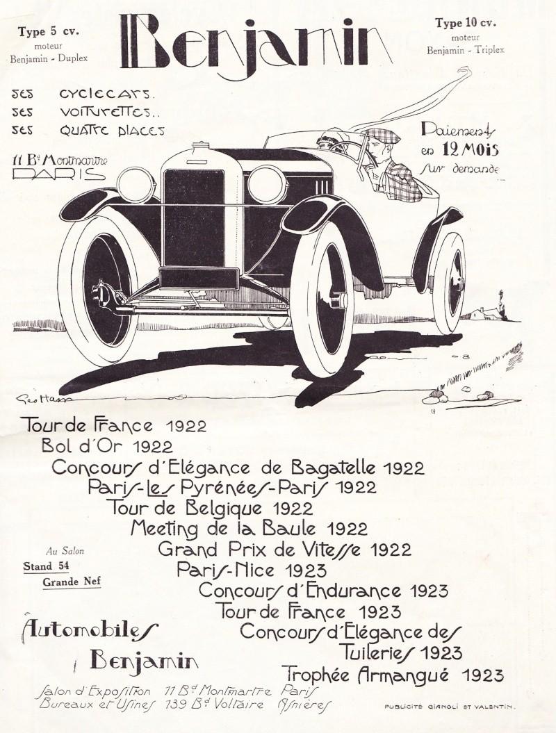 Benjamin Anzeige 1923