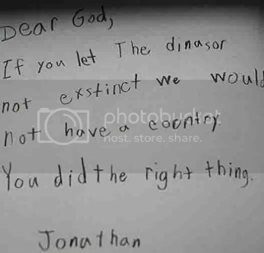 Kids wrote to God