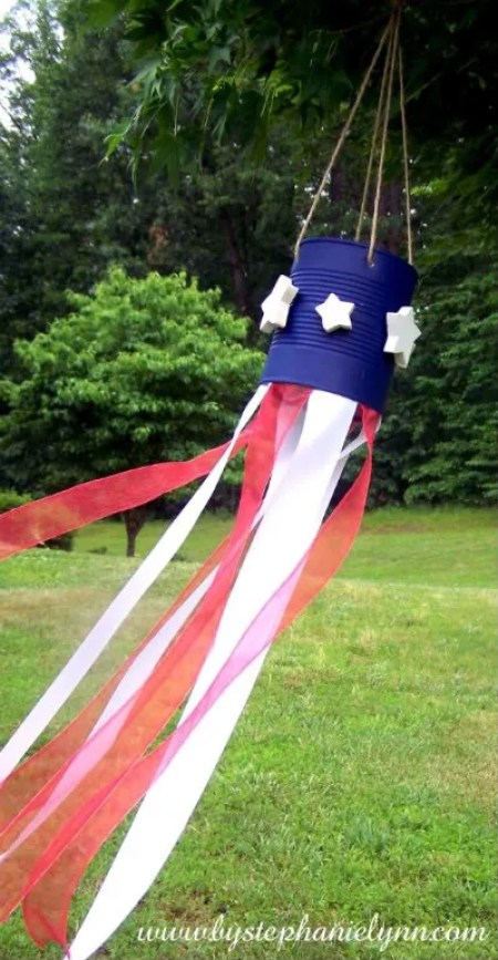 Tin Can Flag Windsock