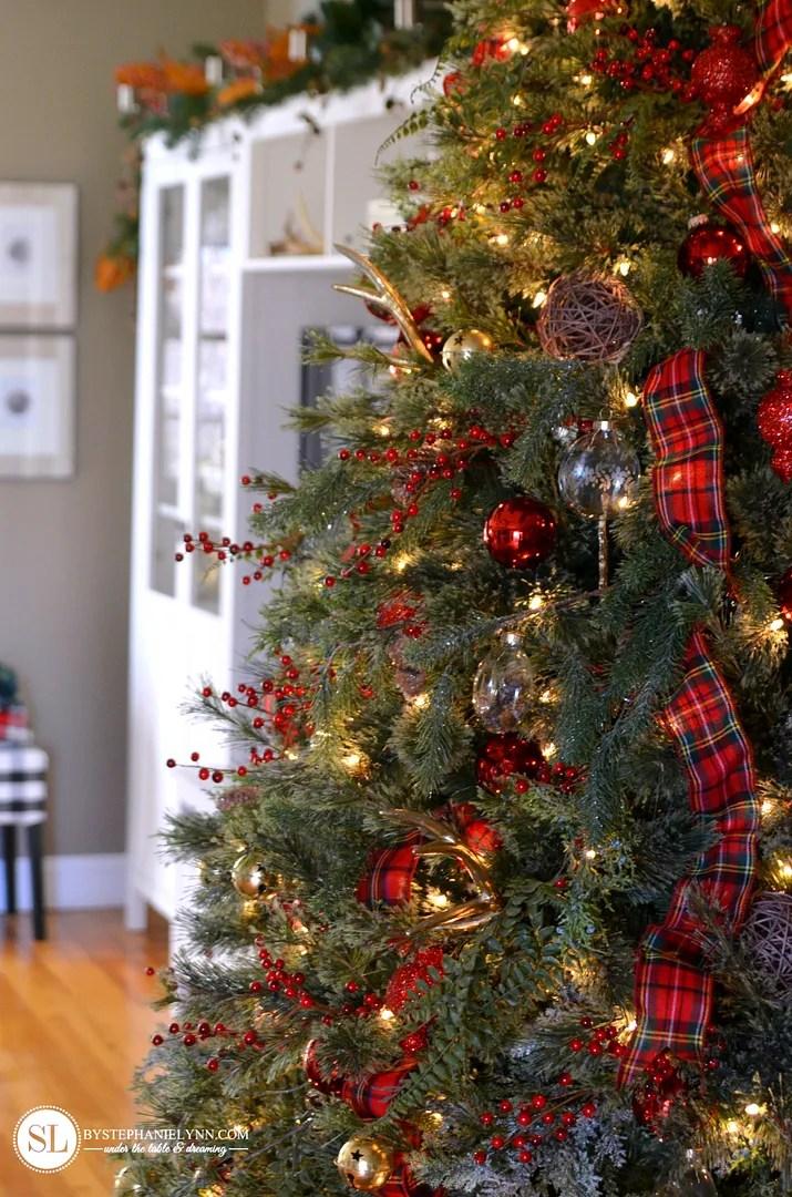 Traditional Red Tartan Plaid Christmas Tree 2016 Michaels Dream Tree Challenge Bystephanielynn