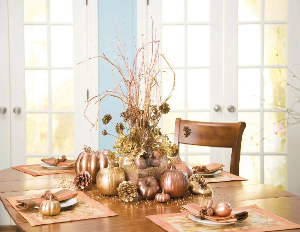 30 Pumpkin, Gourd & Fruit Centerpieces For Festive Fall