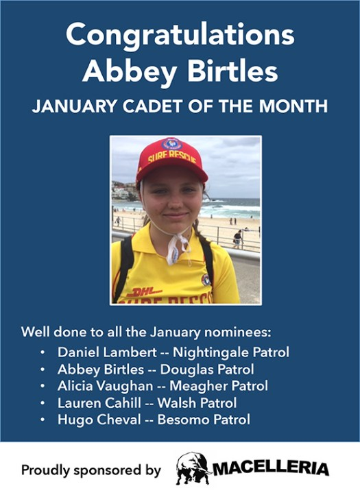 Cadet of the month January is Abbey Birtles