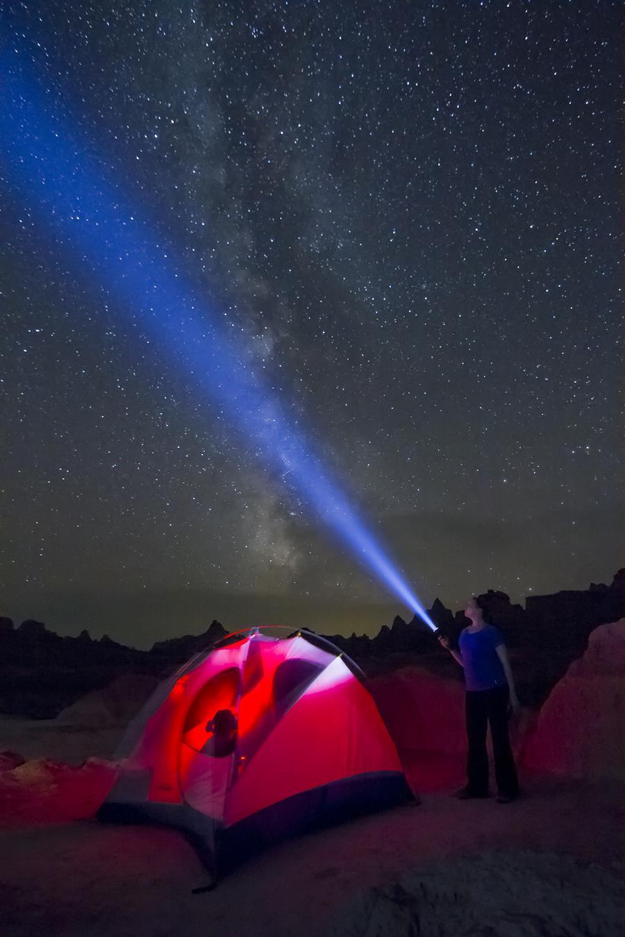 Badlands night sky viewing