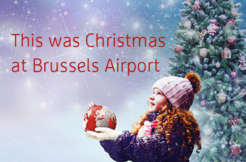 This was Christmas at Brussels Airport