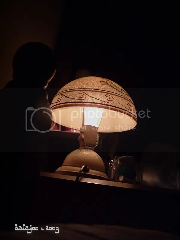 Decorative table lamp (note - from old collection)