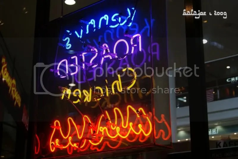 Neon lights for fast food