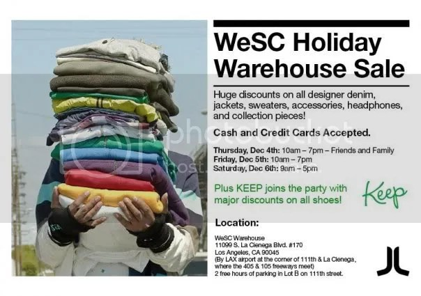 weSC sale