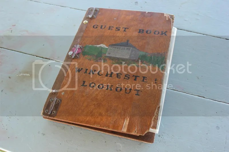 Winchester Lookout guestbook