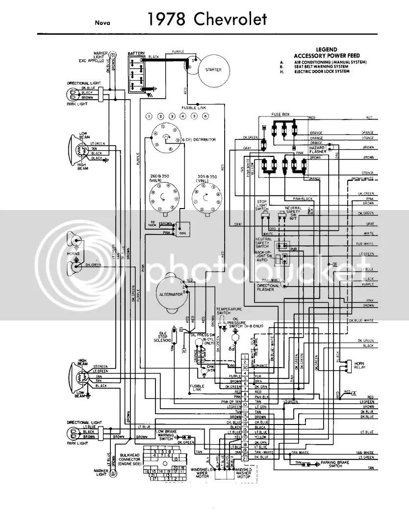 nova 78 instrument panel wiring diagram