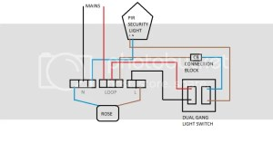 How do I wire a switch to a PIR light? | DIYnot Forums
